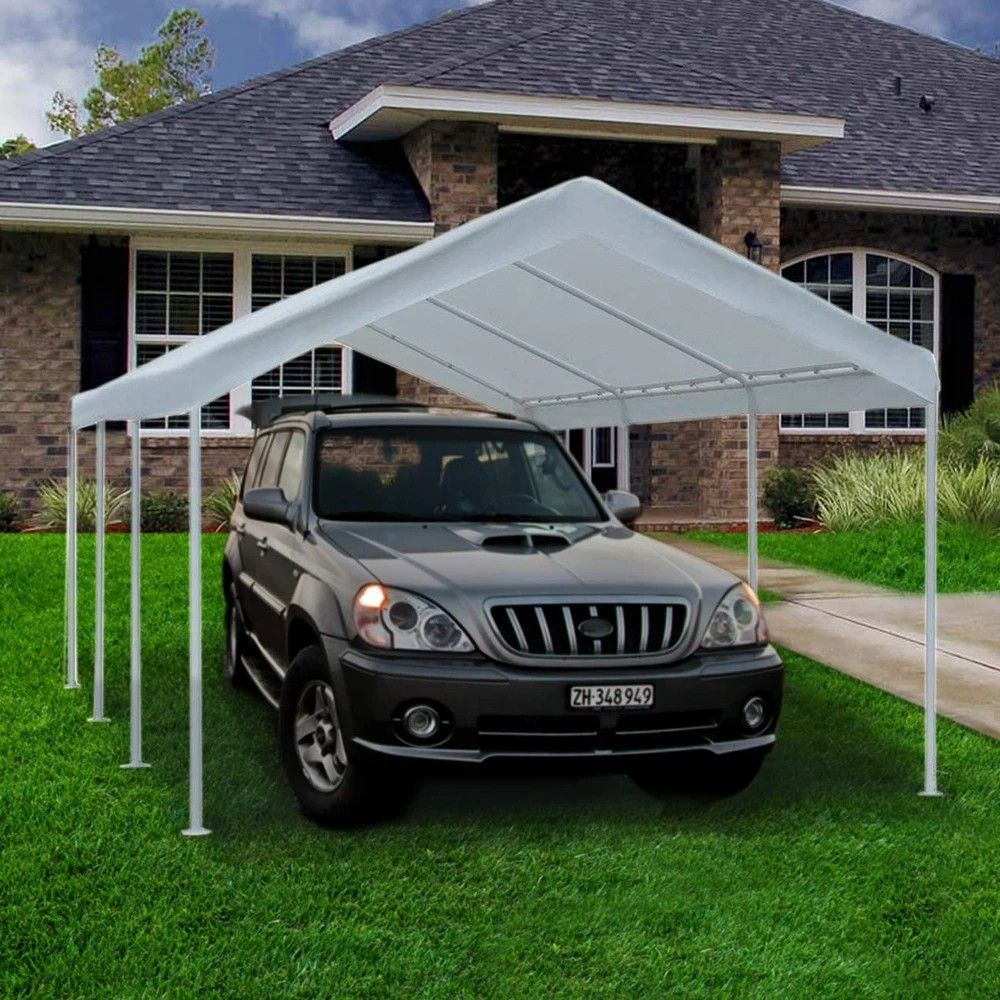 10 x 20 Feet Carport Canopy, White in 2020 Carport