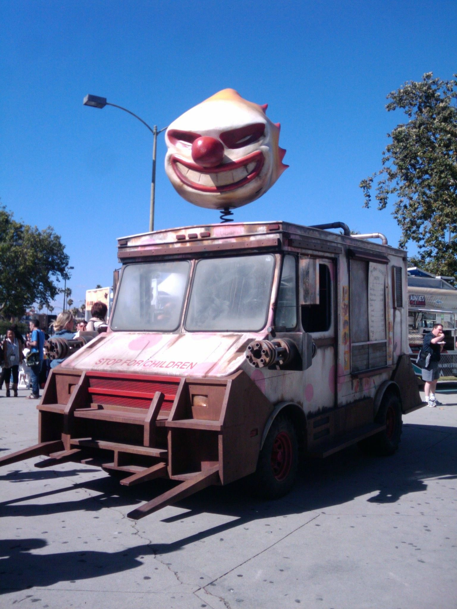 Want some ice cream? Twisted metal, Ice cream van, Scary