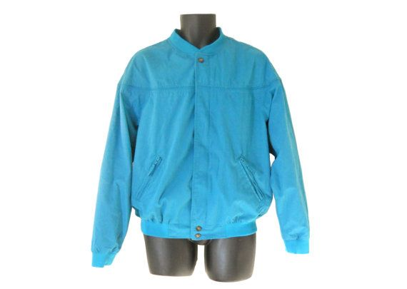Men Windbreaker Jacket 80s Windbreaker 80s 90s by TheVilleVintage ...