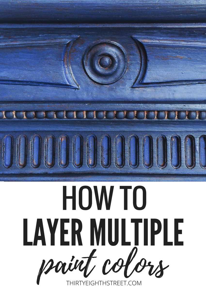 Furniture Painting Technique: A FABULOUS layering paint technique using Annie Sloan Chalk Paints®. In this post, you'll learn how to paint and layer multiple paint® colors onto a mirror or outdated furniture with these easy paint layering and blending tips!