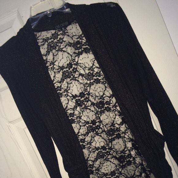 Black & Gold Lace cardigan | Gold sparkle, Black gold and Gold lace