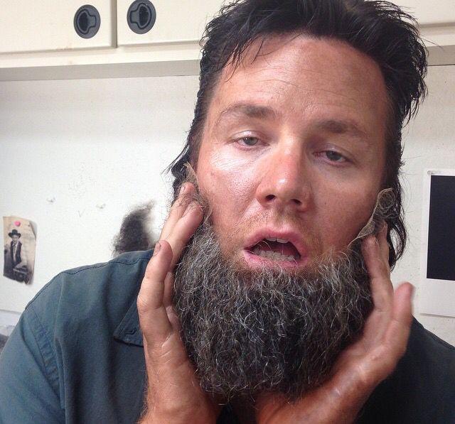 Josh with Rick's fake beard.