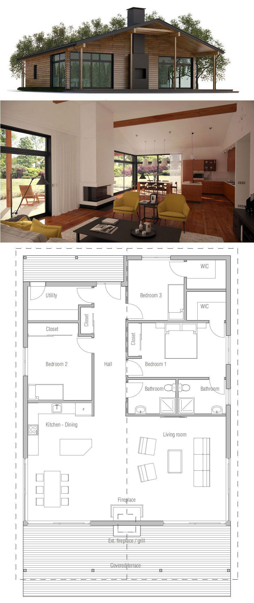 Plan De Maison Maison Maison Modernes Petite Maison Arkitekt
