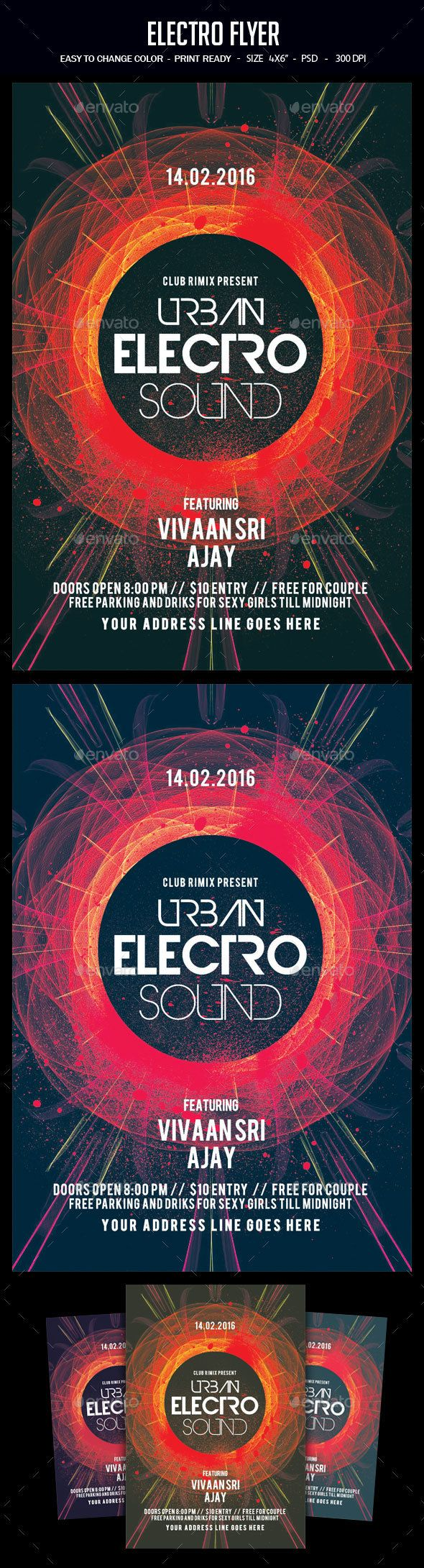 Electro Flyer  Electro Music Flyer Template And Template