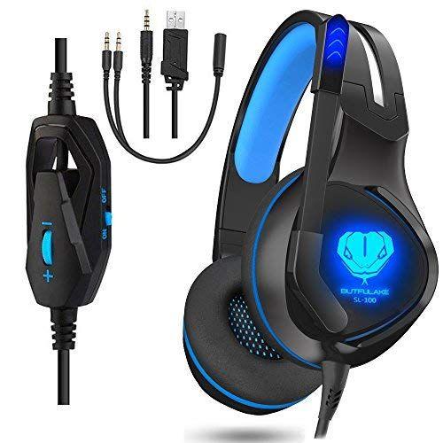 Dxnbikt Gaming Headset für PC PS4 3.5mm Kabelgebundenes Headset für ...