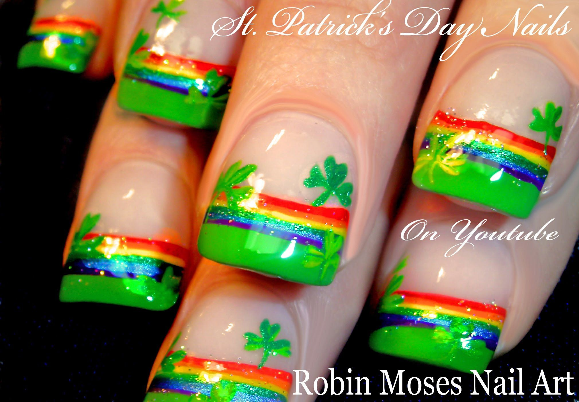 DIY St. Patrick\'s Day Nail Art Design Tutorial | BEAUTY | Pinterest ...