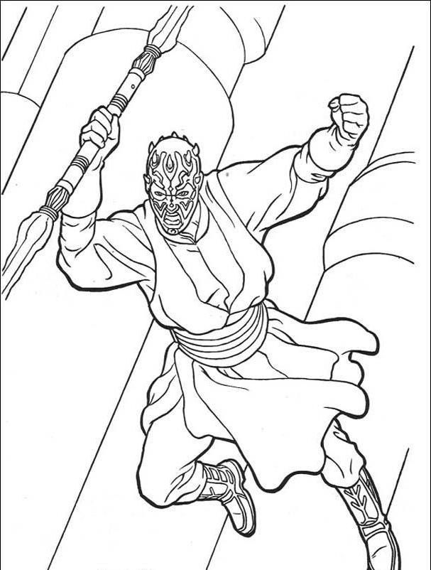 Darth Maul Star Wars Coloring Pages Let S Color Pinterest Darth Maul Coloring Pages
