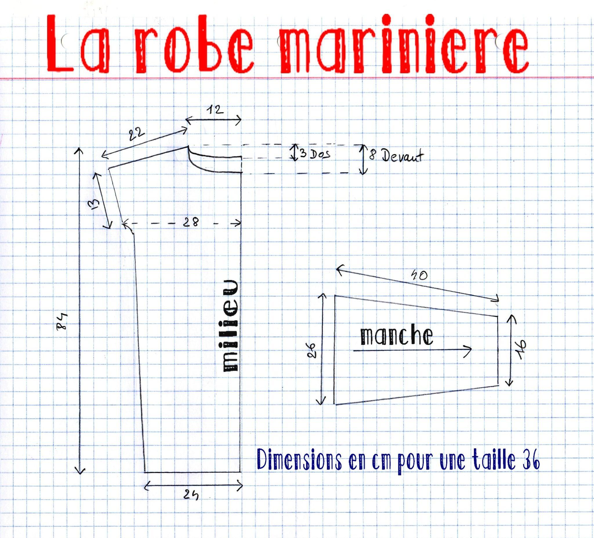 Patron Robe mariniere | Couture | Pinterest | Patrones faciles ...