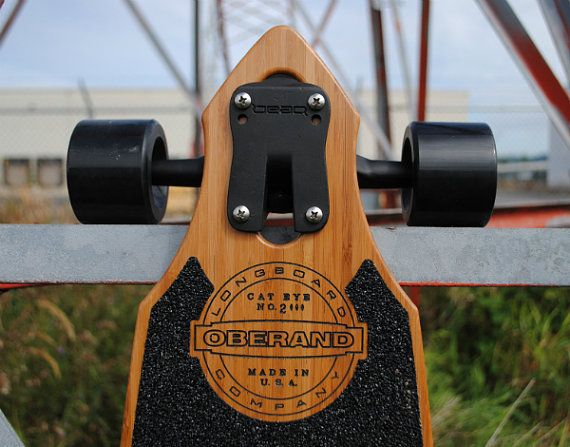 46 Vintage Series Bamboo Longboard Deck The Cat by AOCollective, $195.00