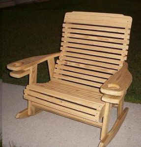 Outdoor Living Amazing Wood Rocker With Cup Holder Outdoor Living Outdoor Furniture Wood