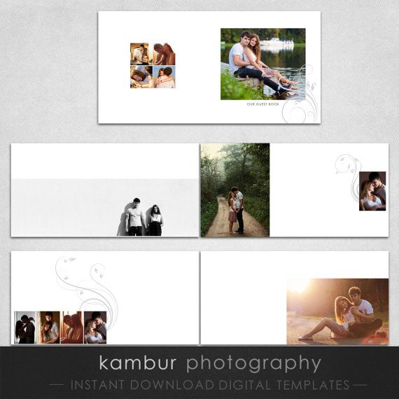 X Psd  Pages Guest Book Album Template   Spread