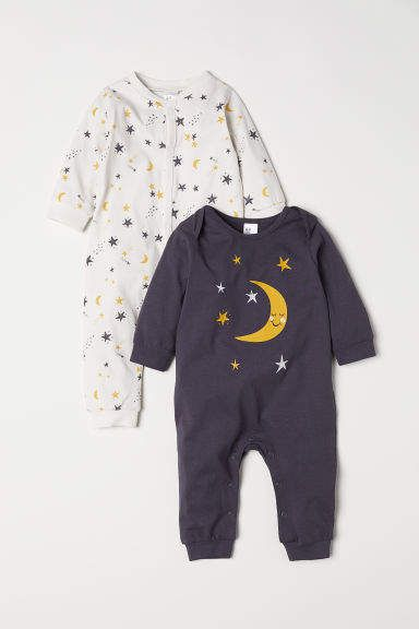 029bbb2738635 H&M 2-pack Jersey Jumpsuits - Gray Girls Clothes Shops, Kids Clothes Online  Shopping