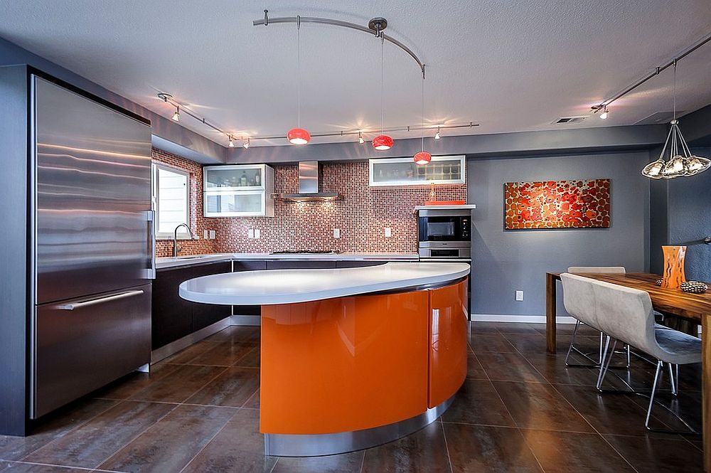 Orange Pendants for the Contemporary Kitchen Ideas and Inspirations