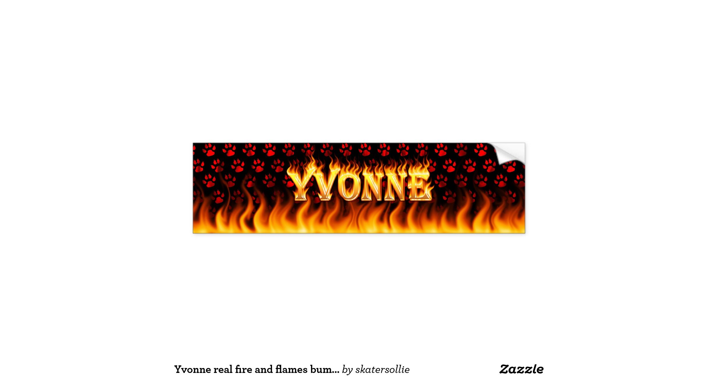 Bumper stickers design your own - Yvonne Real Fire And Flames Bumper Sticker Design Add Your Own Custom Text And Images