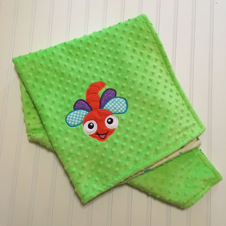 Minky BlanketNursery BeddingInsect BlanketBug Blanket