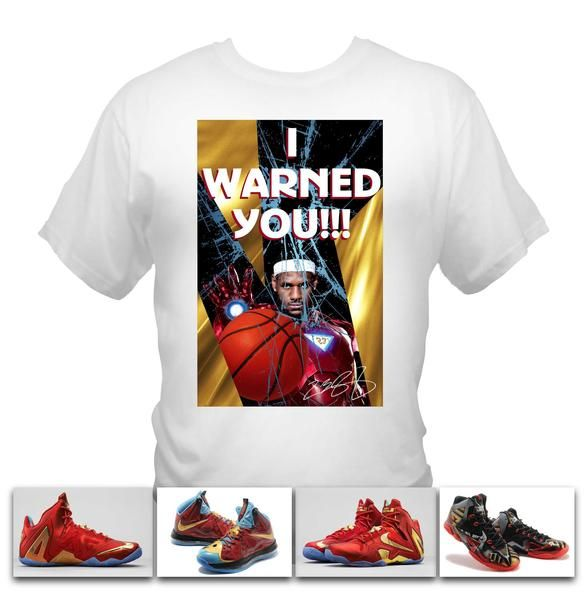 9cd804204 Lebron James Ironman White T-Shirt made to match Nike Lebron Iron man shoe  series