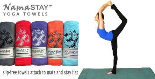 Namastay Yoga Towel Ad Resized Yoga Towel Yoga Accessories Yoga Accessories Mats