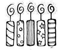 Melonheadz Illustrating Birthday Candles Velas De Aniversario Desenhos E Pintar