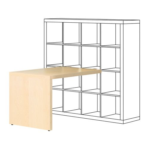 Eckschreibtisch weiß ikea  KALLAX Biurko, imit. brzozy | Ikea hack and Room