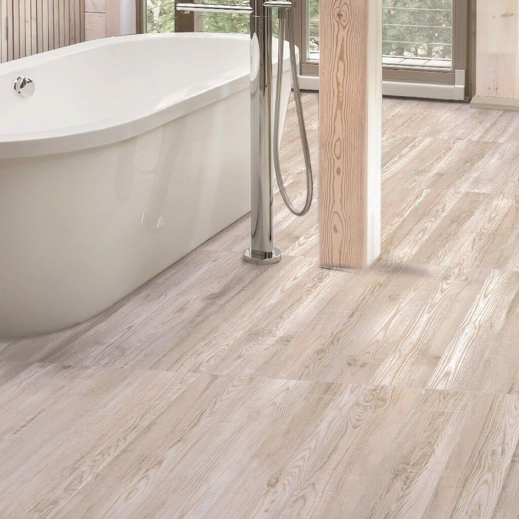Wooden Bathroom Tiles: Katmandu White Wood Effect Floor Tiles 23 X 120 Cm In 2019