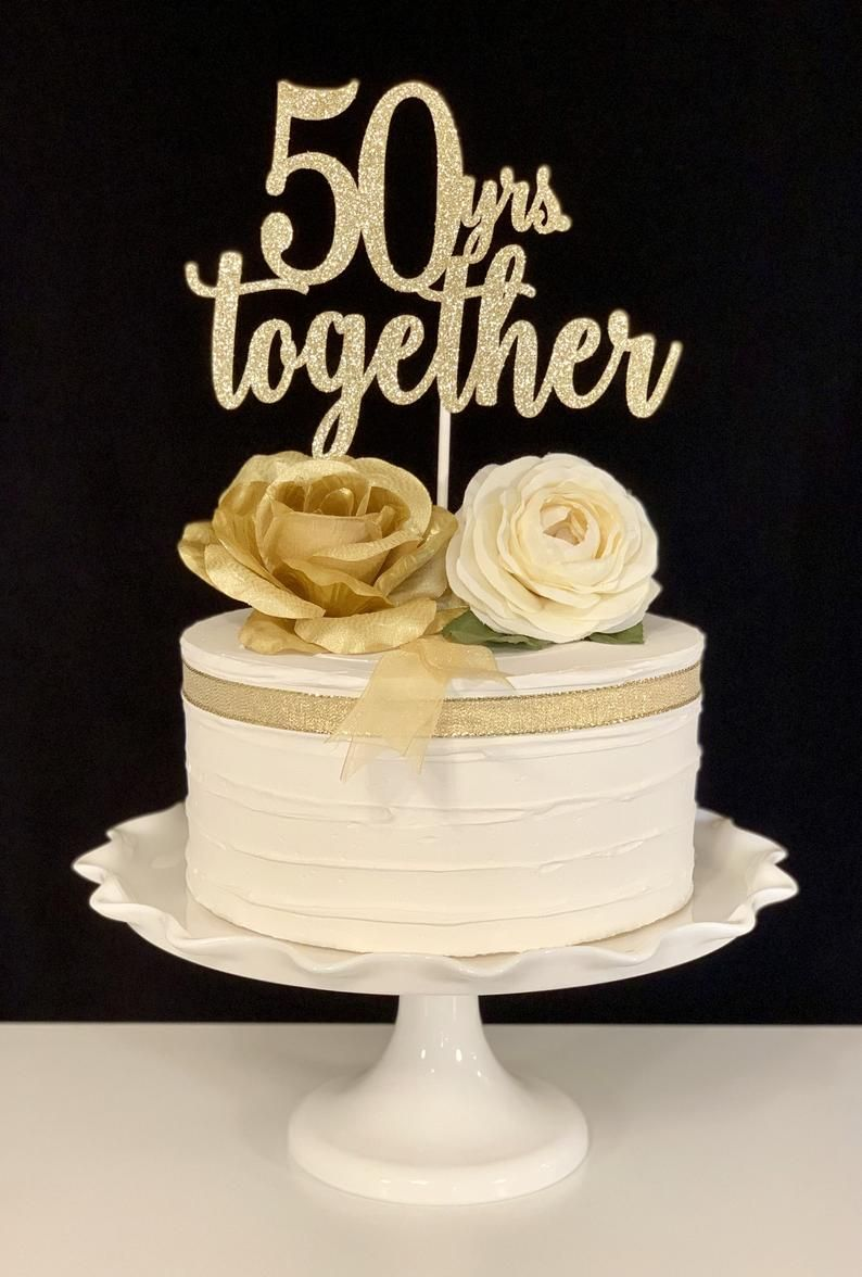 50th Anniversary Cake Topper Etsy In 2020 50th Anniversary Cakes 50th Wedding Anniversary Cakes 50th Wedding Anniversary Cakes Toppers