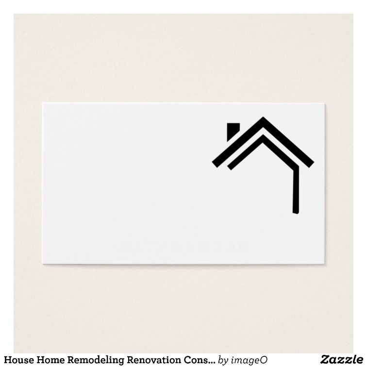 House home remodeling renovation construction business card zazzle house home remodeling renovation construction business card zazzle reheart Choice Image