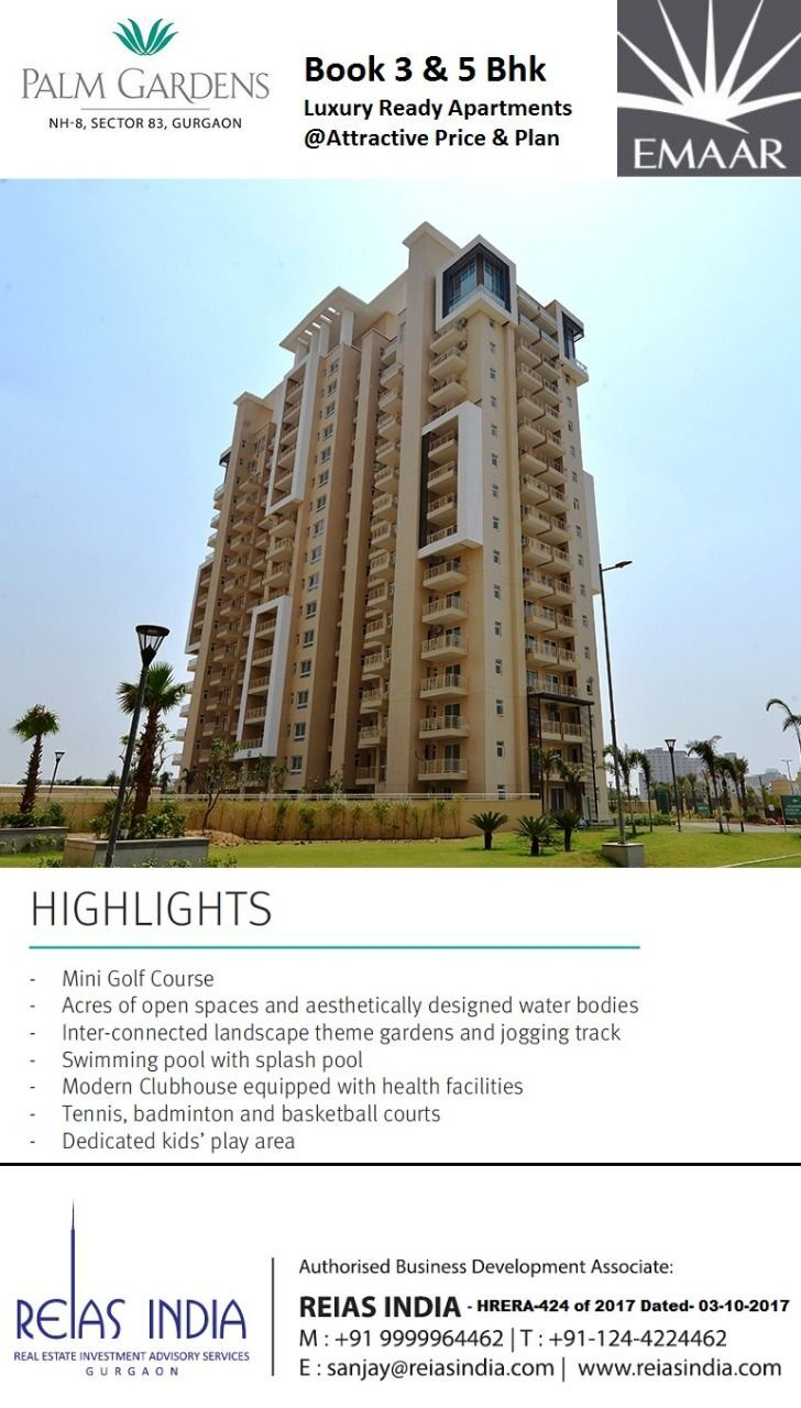 Looking To Purchase This Unit: Limited Unit Available In Emaar Palm Gardens Ready Tower