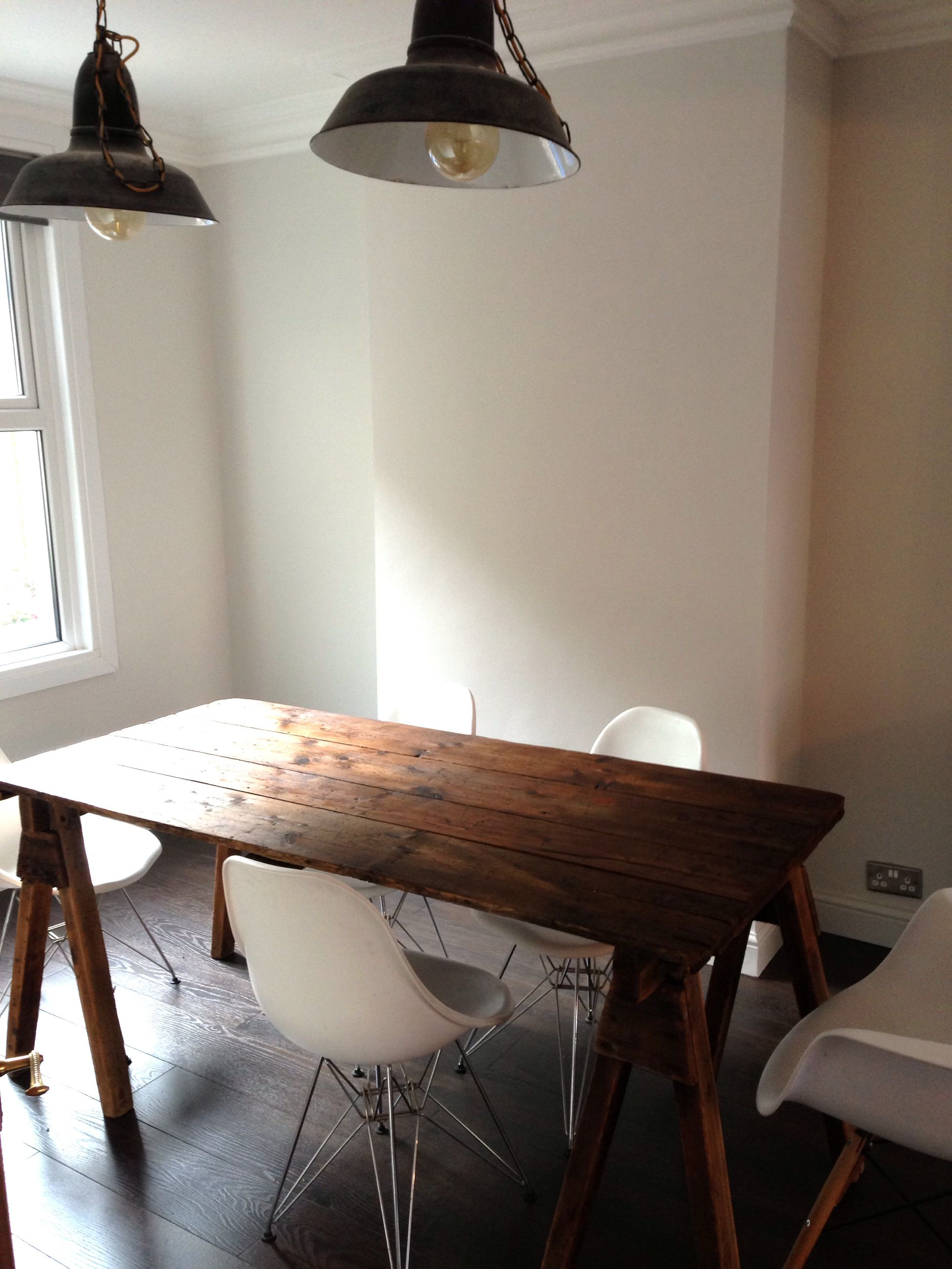 Farrow And Ball Living Room In Strong White Dark Wood With Light Walls Paint Pinterest