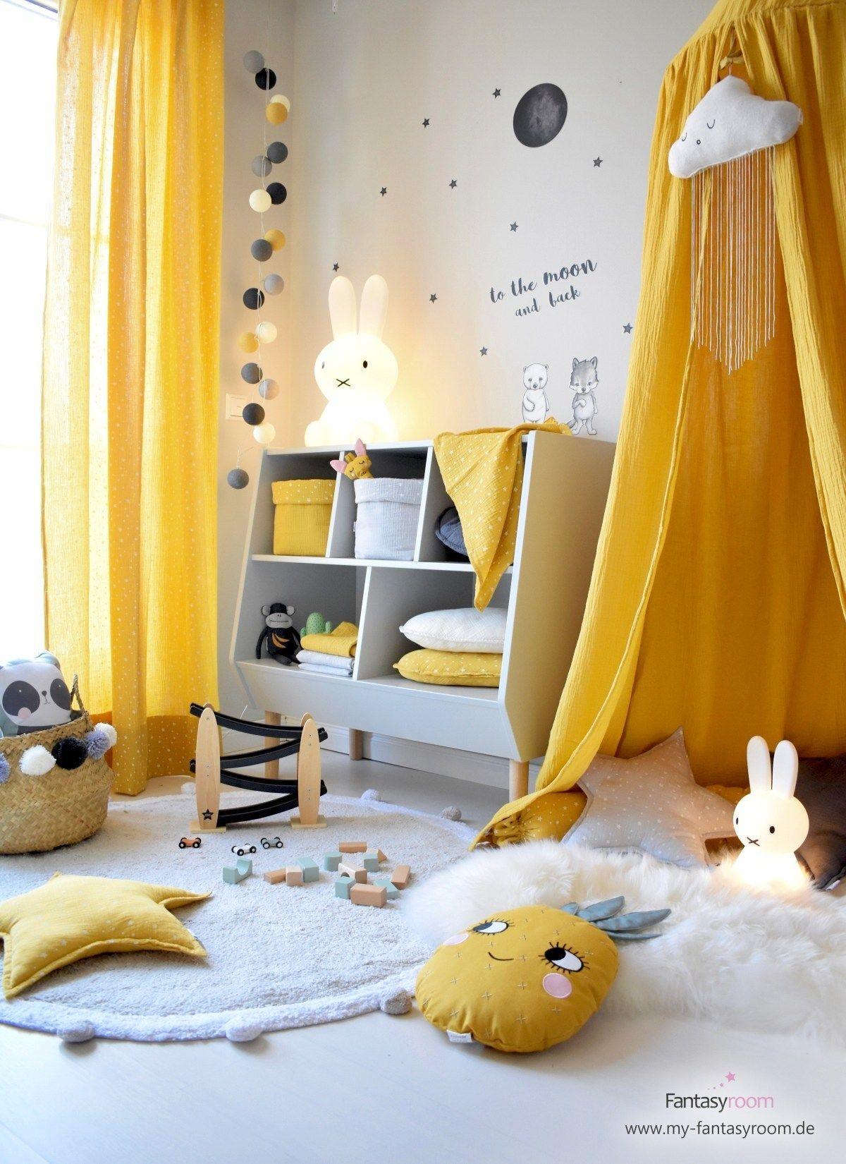 Kinderzimmer in Gelb einrichten & gestalten Kinder