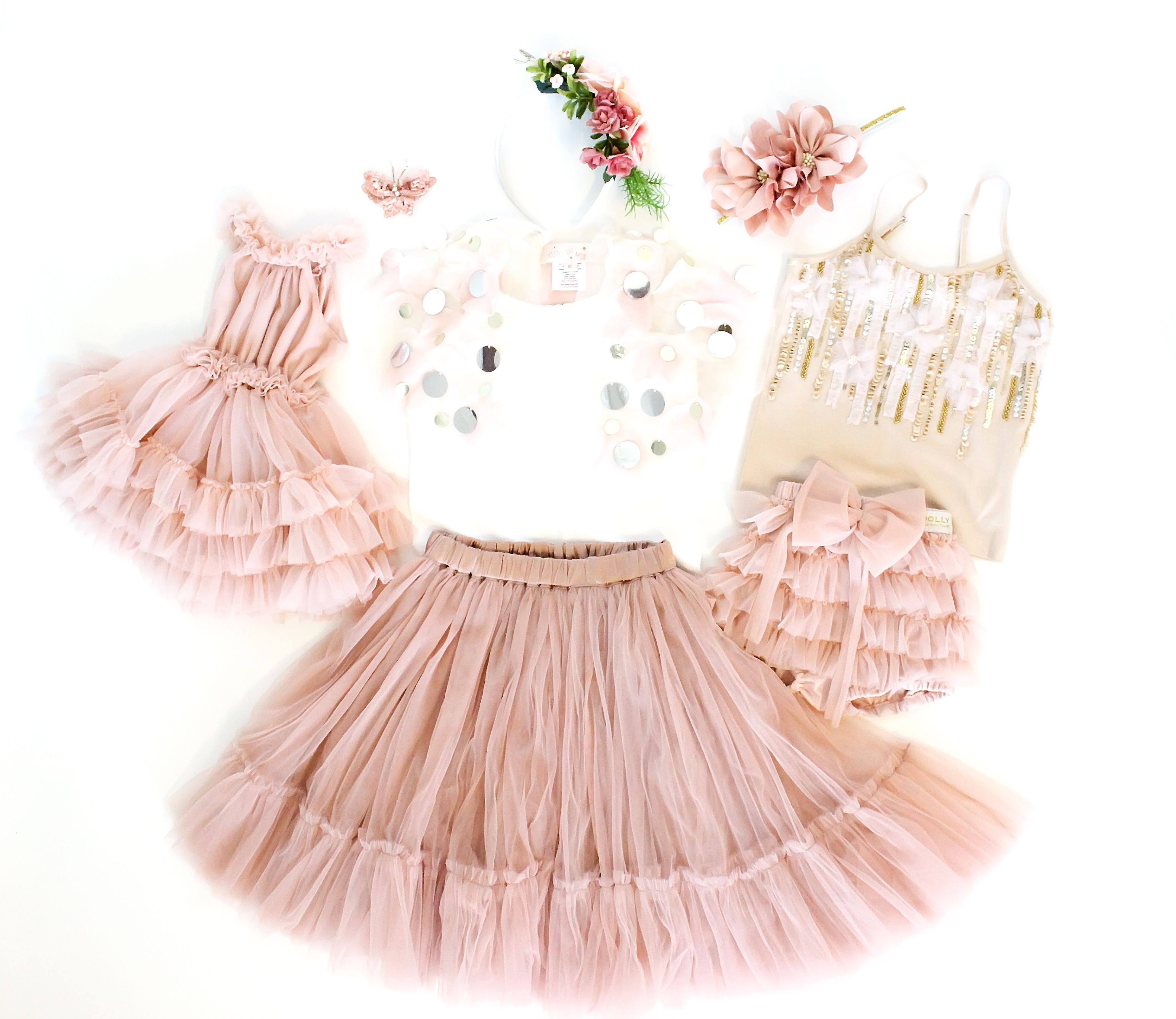 Children s photo style family photo outfits sister sets tutu
