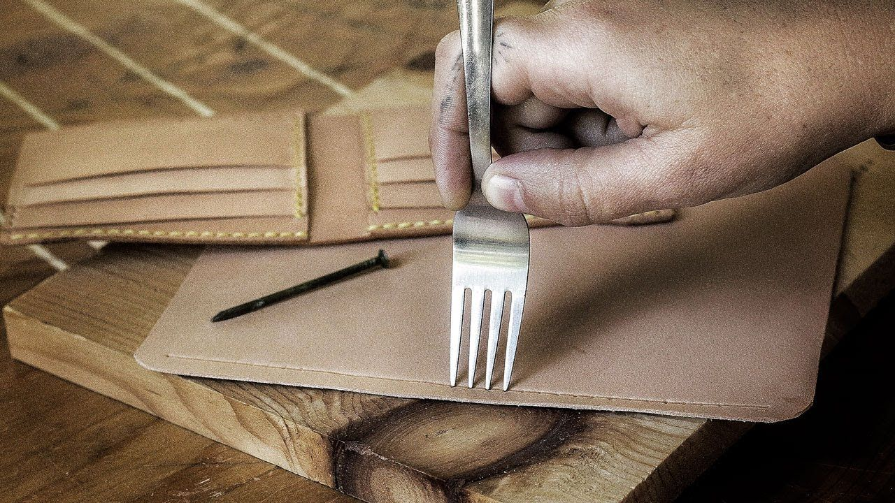 Can You Make a Leather Wallet WITHOUT Tools? - YouTube #leatherwallets