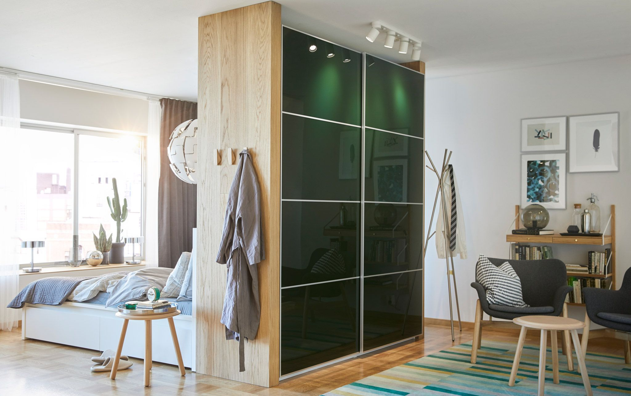 Image result for pax wardrobe room divider   Bedroom