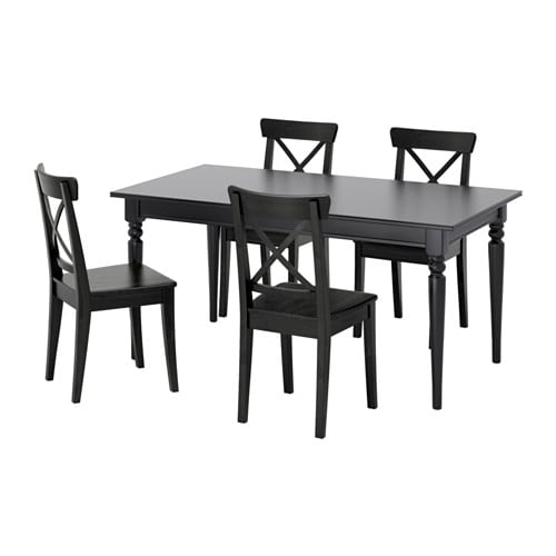 Ingatorp Ingolf Table And 4 Chairs Black Brown Black 61 84 5 8 Ikea Dining Ikea Dining Sets Kitchen Tables Ikea