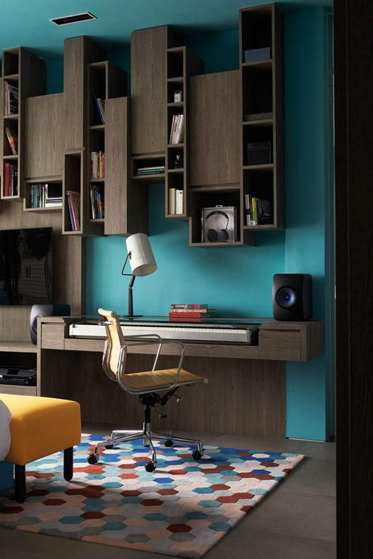 7 Design Ideas For A Stylish Study Area In The Bedroom Home Interior Design Furniture