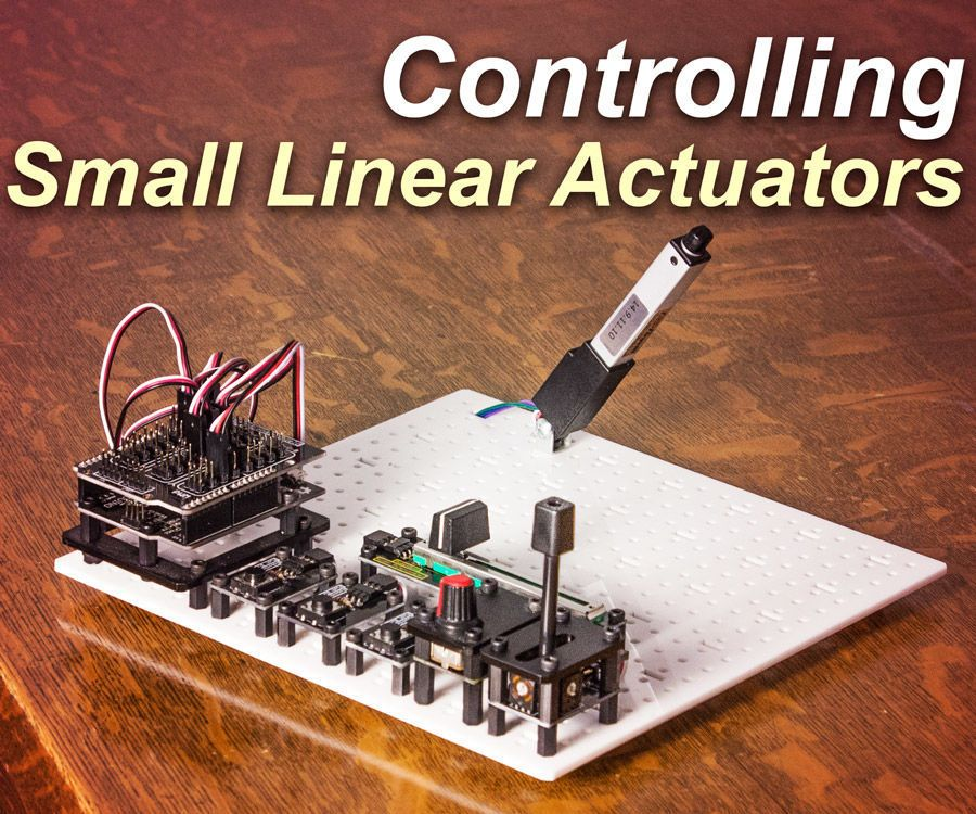 Control a small linear actuator with arduino linear