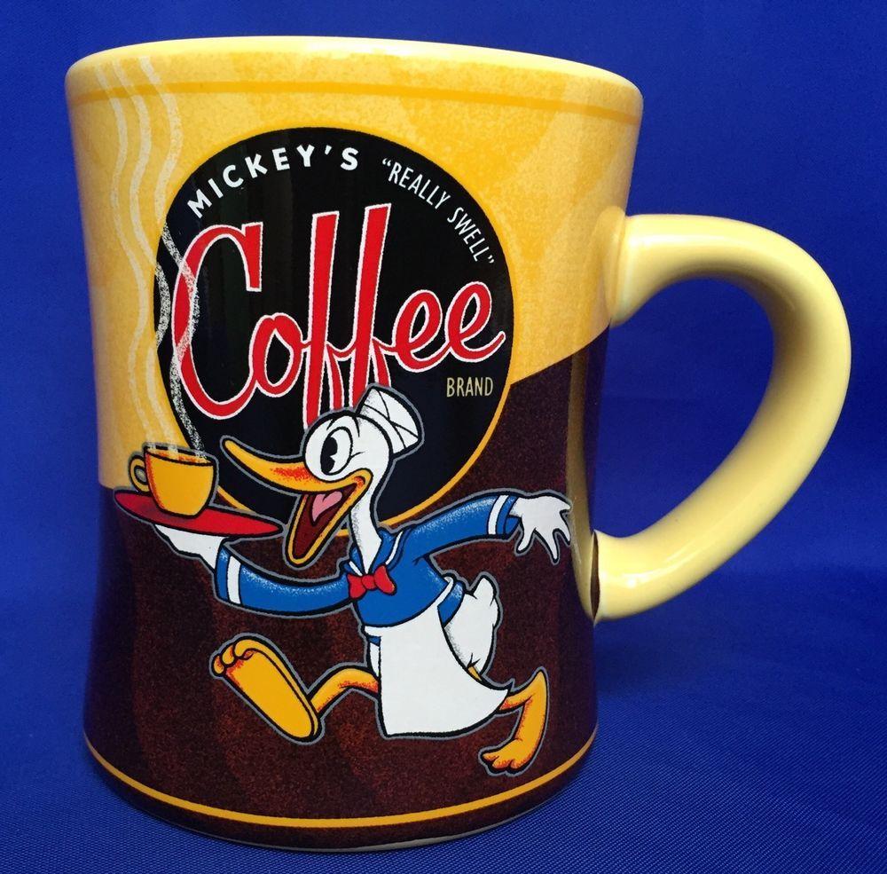 Donald Duck Mug Mickeys Really Swell Coffee Cup Theme Park Disney Ceramic 16 Oz Waltdisney Disney Mugs Disney Coffee Mugs Mugs