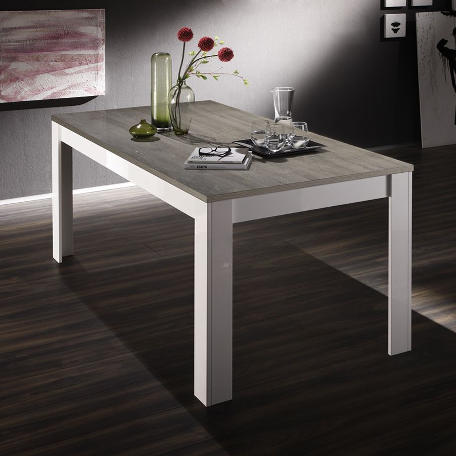 Table Salle A Manger Design Laqué Blanc | Salle Manger Design Table ...