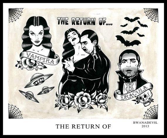 The Return of... Vampira and Bela Lugosi tattoo by ...
