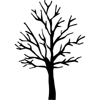 Trees bare. Tree silhouette clip art