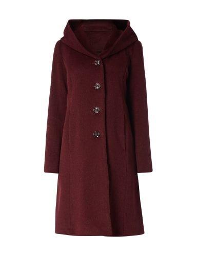 543835357e2f41 MILO-COATS Wollmantel mit großer Kapuze in Rot online kaufen (9515768) | P&C