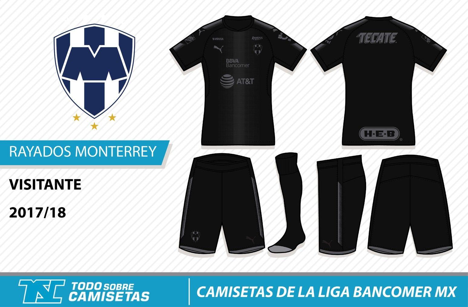 Camisetas de la Liga MX 2017-18 - Rayados Monterrey  5bf585dc793