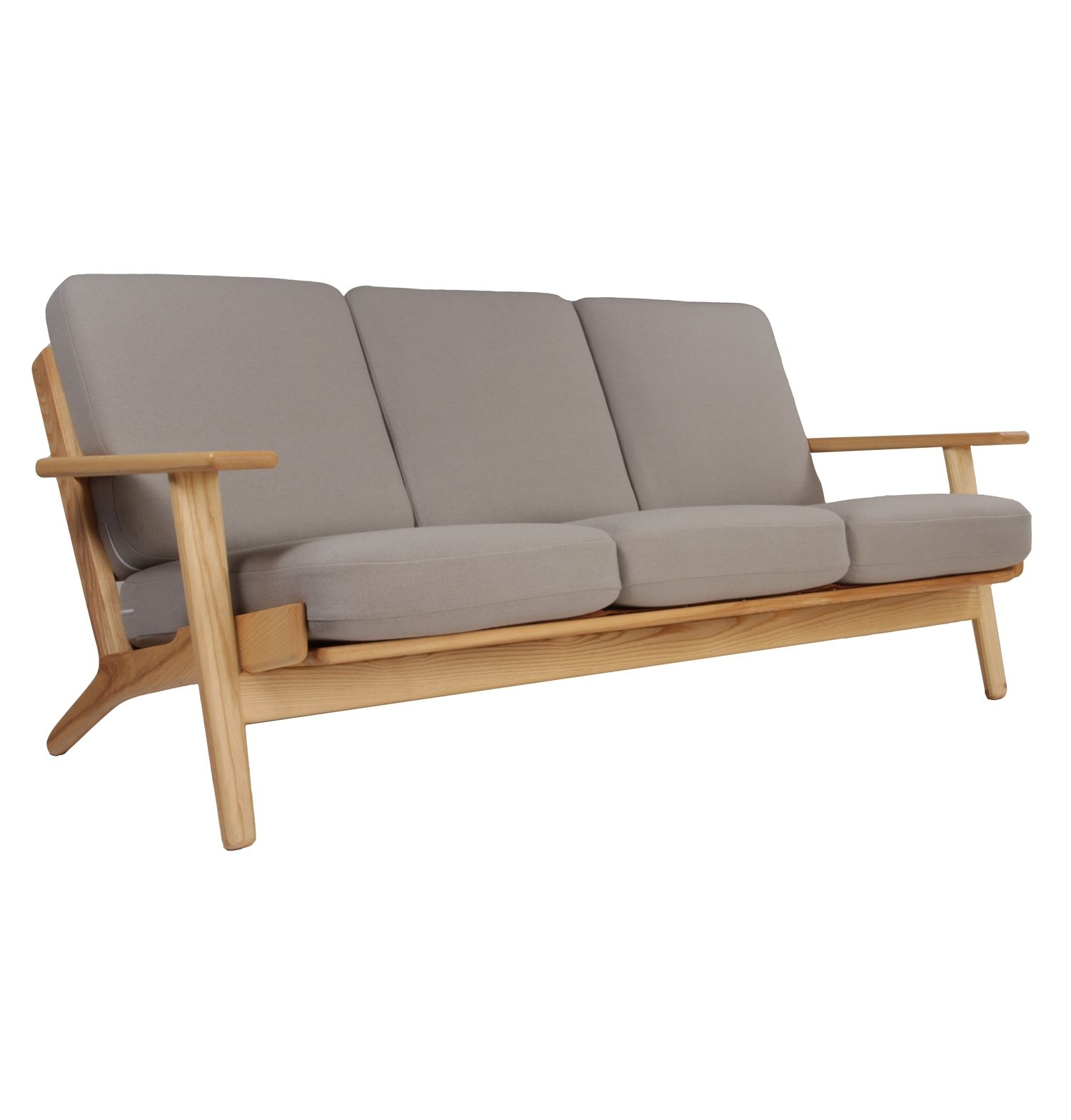 Hans Wegner Sofa Replica The Matt Blatt Replica Hans Wegner Plank 3 Seater Sofa Ash