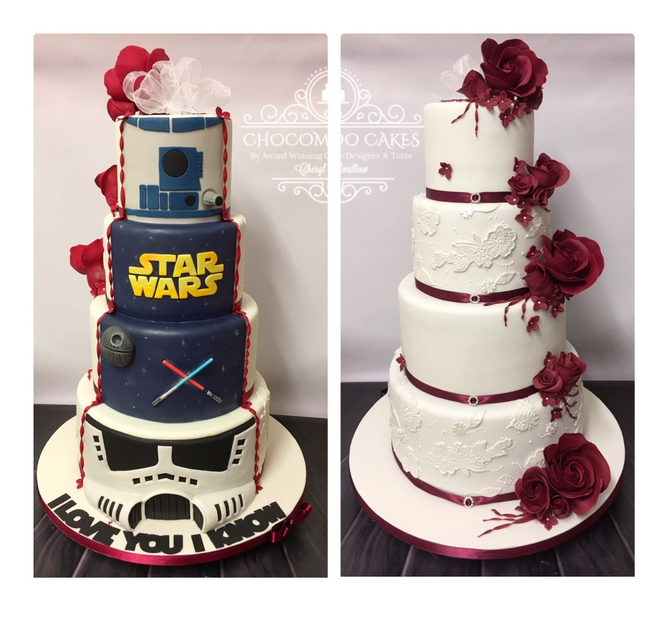 Geek Wedding Ideas: Half Wedding Cake Half Star Wars