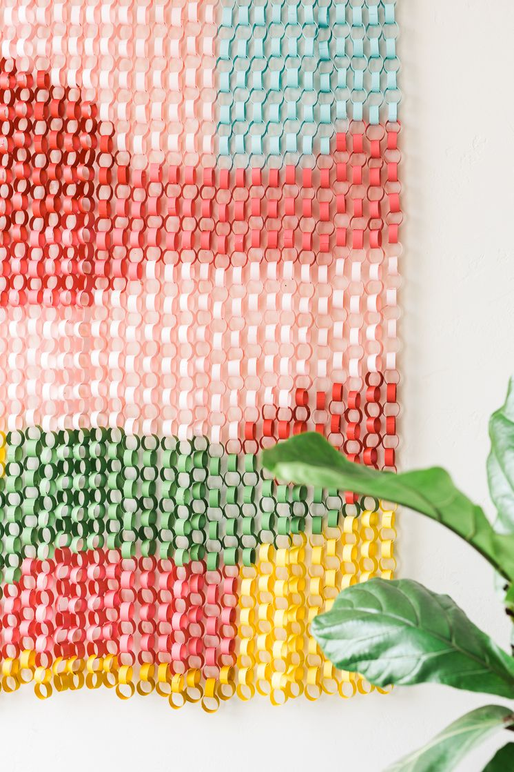Paper chain wall hanging paper chains chains and walls