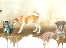 Dogs and Cats galore! by Antiguan artist Gilly Gobinet