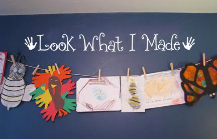 Look what I made Vinyl Art Wall Decal Children/'s Display Artwork Display Decal