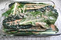 Turquoise Tile Kitchen: Grilled Kale marinated in Spicy Coconut Milk, maybe it could work with swiss chard??