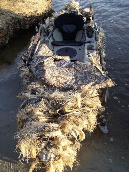 Rigged Hunting Kayak 2 Kayak Waterfowling Pinterest