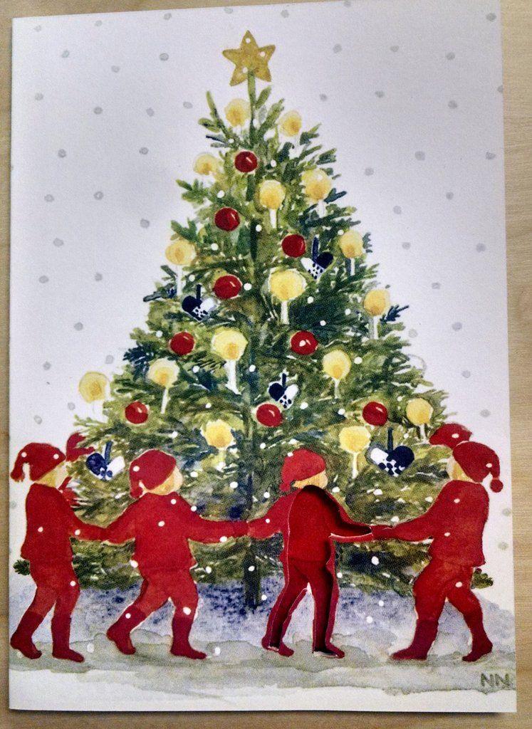 Swedish Christmas Tree Tomte Dye Cut Card