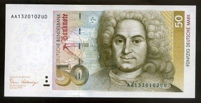 Germany banknotes 50 Deutsche Mark bank note Deutsche